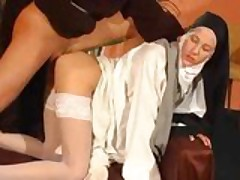 Anal nailed nun!