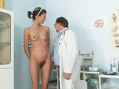 Angela have pussy speculum examined by gyno doctor