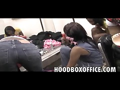 Hidden cam stripper Dressing room girls get nasty