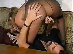 2 Pantyhose matures are property fucked
