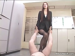 Asiatin frauen in strumpfhosen fetisch footjob sex