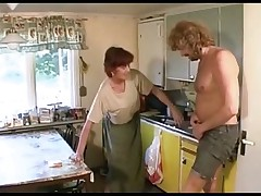 Granny Fucks in the Lounge then the Kitchen
