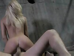 Sexy Young Blonde In Jeans Loves Big Cock
