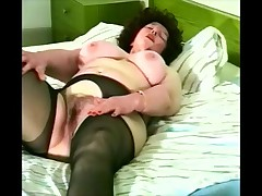Granny hairy open pantyhose