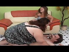 Pretty Midget and SSBBW 3some with Gay Guy (Full Version)
