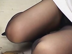 Footjob cumshot anal panty stockings handjob video