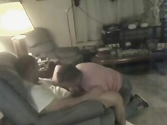 Must see my nasty aunt sucking my cock