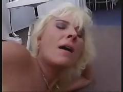Beauty Blonde Granny Anal