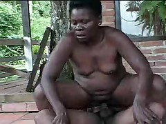 Black granny fucked by young boy