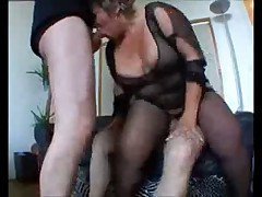 French Granny Seduces Two Big Guys by TROC