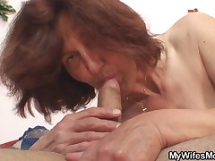 Wife gets mad when catches her man fucking her mom