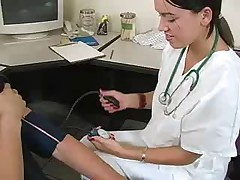 Doctor gives a handjob